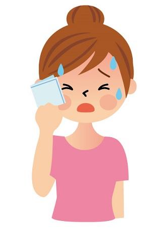 ホットフラッシュ,更年期の症状,大量の発汗,更年期の悩み