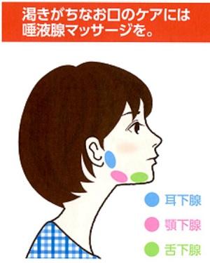 唾液分泌マッサージ,耳下腺マッサージ,フェイシャルマッサージ,更年期障害,更年期障害虫歯